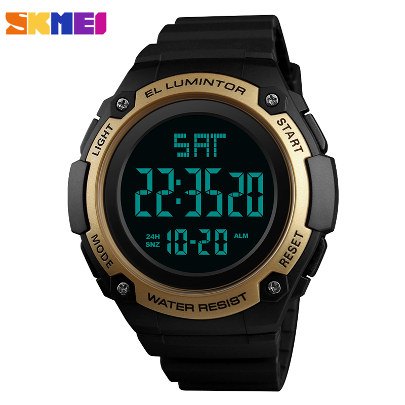 SKMEI LED Digital Wrist Watch Men Waterproof Sport Watches For Mens Luxury Brand Fashion Wristwatch Montre Homme Male Clock 2018 2016 brand o t s fashion outdoor sport waterproof led mens clock digital