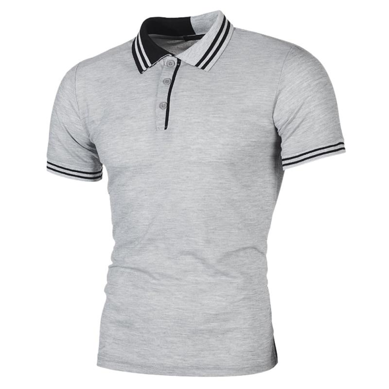 Plus Size S-2XL Brand New Slim Casual Men's   Polos   Shirt Men Striped Short Sleeve shirt Brands jerseys Summer Camisa Masculina