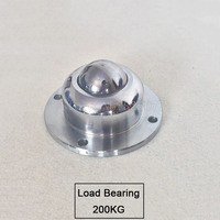 2PCS Precision Base With Flange Universal Ball Cattle Eyes Ball Bearings Cattle Round Ball Wheel Load