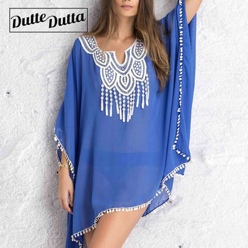 Summer Dress Beach Dresses Women Tunic Women's Robe De Plage Pareo For Beach Wear Bikini Cover Up Playa Beachwear Beach Tunics 1