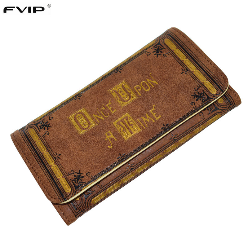 FVIP Once Upon A Time Long Wallet HASP Vintage Women Wallet Henry's Book Purse Drop Shipping лонгслив printio once upon a time in america однажды в америке