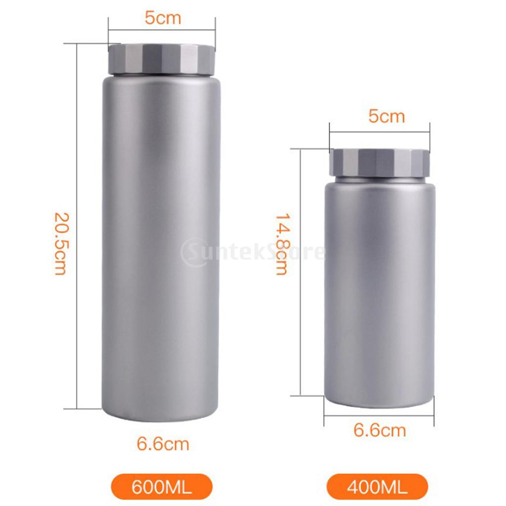 400ml/600ml Sports Outdoor Travel Ultra-light Wide Mouth Titanium Water Bottle Leak-Proof Canteen + Insulated Sleeve Cover eyki h5018 high quality leak proof bottle w filter strap gray 400ml