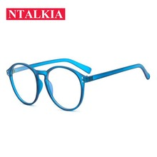 New cheap transparent blue Spectacle Frame womens Cat Eye Eyeglasses male Anti-fatigue Computer Reading Glasses Eyewear Goggles