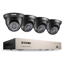 ZOSI HD-TVI 720P DVR 8 Channel CCTV System Video Surveillance DVR KIT with 4PCS 1280TVL 720P Home Security 8ch Camera System