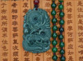 Natural Real HeTian Jade Carved Dragon Lucky Amulet pendants Green Jade Pendant certificate Necklace Fashion Jewelry