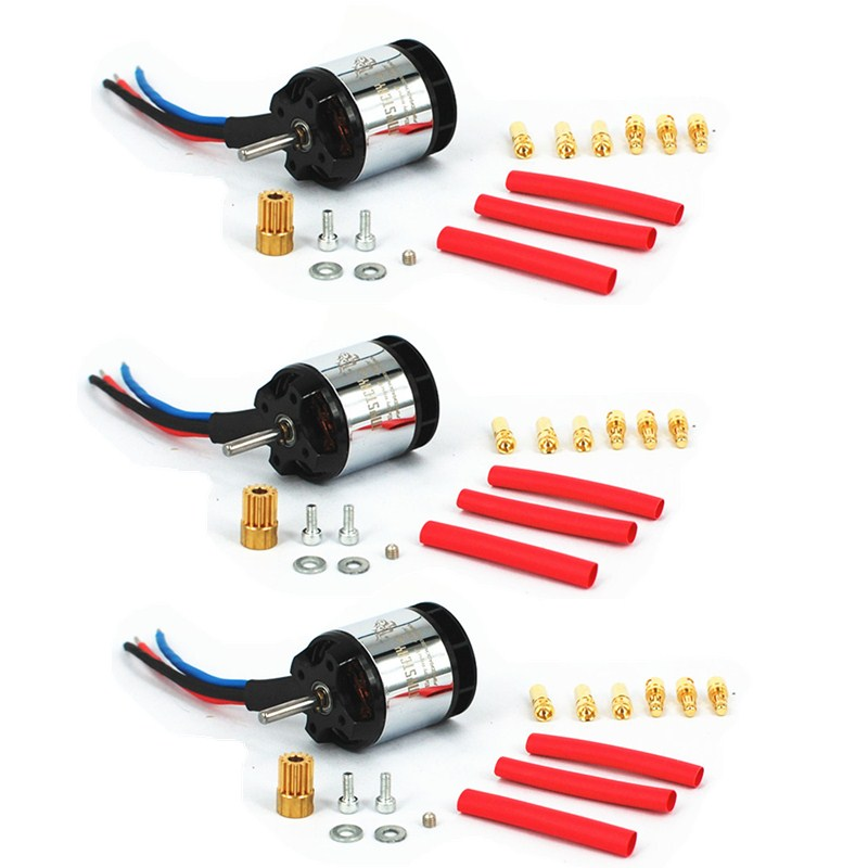 3PCS/Lot Mystery Fire Dragon HL2835 3800KV Brushless Motor for ALIGN Trex 450 Heli With  ...
