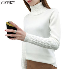 Women Turtleneck Sweater Female 2019 Cashmere Knitted Winter Sweater And Pullover Female Tricot Jersey Jumper Pull Tops Femme(China)