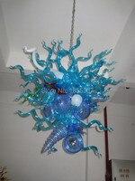 Gratis Verzending Nieuwe Collectie Led Lampen Blauw Gekleurde Glazen Kroonluchter Te Koop