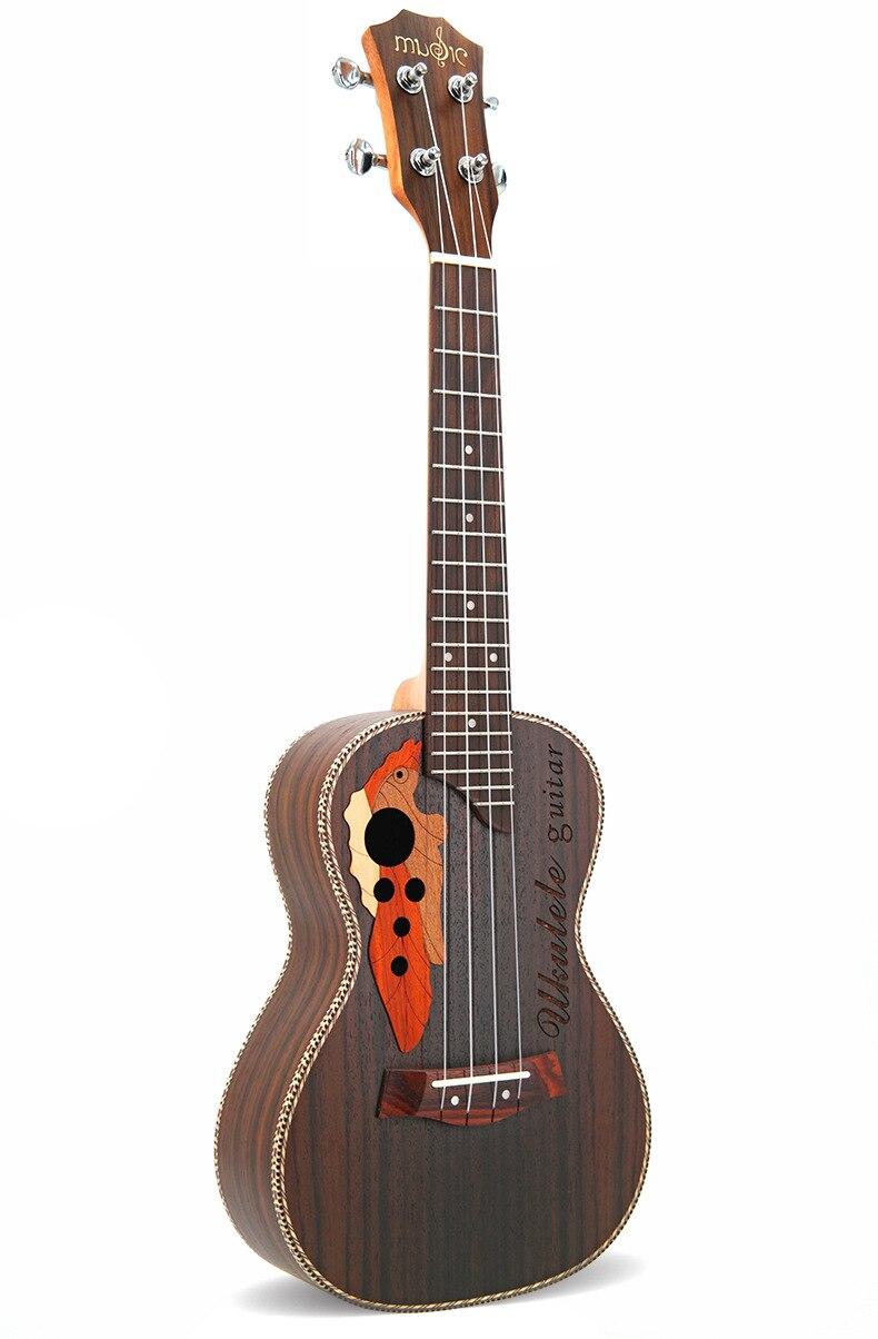 Ukulélé 23-26 pouces Ukelele Soprano 4 cordes hawaïen épicéa Basswood guitare Uke