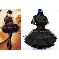 Japan Visual J rock Black Dress Cosplay Costume Tailor made[CK082]
