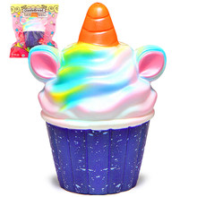 Unicorn Squishy Jumbo Colorful Ice Cream Cupcake Squishies Cream Scented Slow Rising Squeeze Toy Original Package(China)