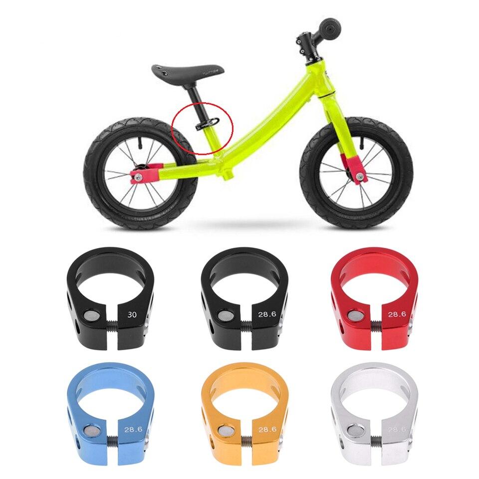 Bike Seatpost Clamp 27.2mm Seat Post Fixed Clip Saddle Holder Black 31.8