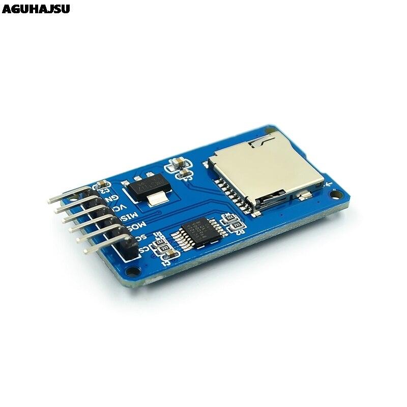 1 шт./лот модуль считывания карт Micro SD mini TF интерфейсы SPI с чипом преобразователя уровня для arduino
