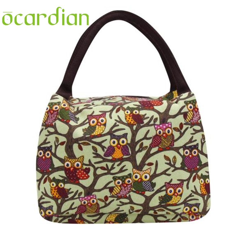 Ocardian 23*15*15cm Owl Thermal Insulated Tote Picnic Lunch Cool Bag Cooler Box Handbag Pouch*20 Gift