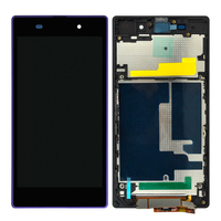5pcs Black Touch Screen For Sony Xperia Z1 L39h LCD Display With Frame Digitizer Assembly Mobile