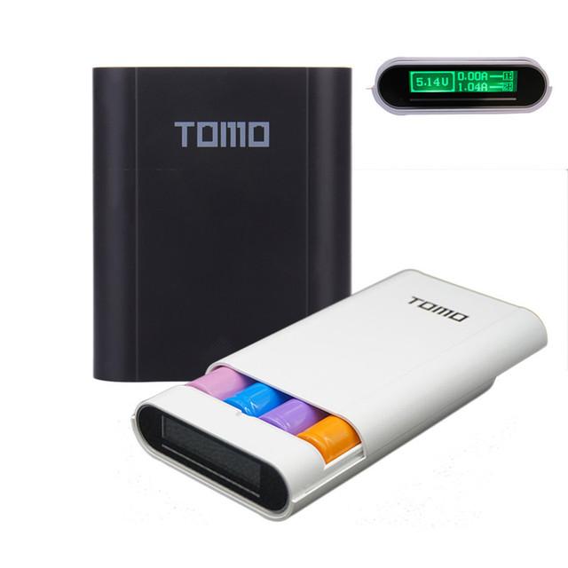 2017 nuevo tomo m4 caja universal 18650 cargador de batería inteligente de pantalla caso banco de la energía 5 v 2a max powerbank para iphone actualizado v8-4