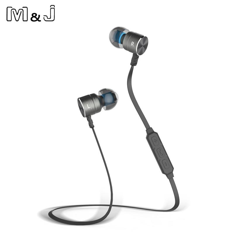 M & J BX325 Metal Magnet di-telinga Auriculares Bluetooth Earphone - Audio dan video mudah alih - Foto 3