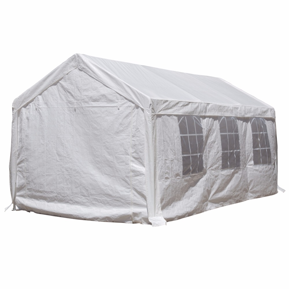 Abba Patio 10x20 ft Heavy Duty Outdoor Canopy Carport Party Tent Gazebo with Windows White-in Gazebos from Home u0026 Garden on Aliexpress.com | Alibaba Group  sc 1 st  AliExpress.com & Abba Patio 10x20 ft Heavy Duty Outdoor Canopy Carport Party Tent ...