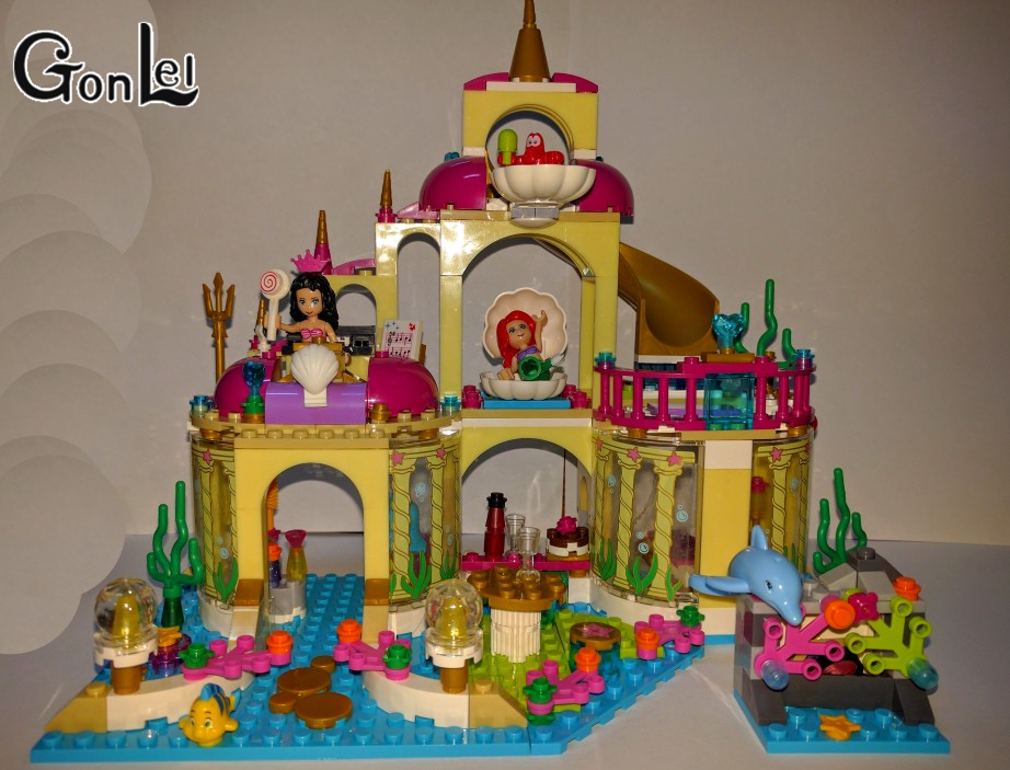 GonLeI Bela 10436 Ariel Undersea Palace The Mermaid Princess castle Building block Anna for Ariel girl toy compatible Legoingly