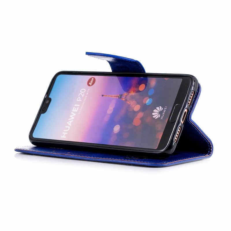 Роскошный кожаный откидной Чехол-кошелек с подставкой для huawei P20 P10 Коврики 10 Lite Pro P Smart Honor 7A 7C 7X Y9 Y5 2018 магнитные Чехлы для телефона с функцией подставки