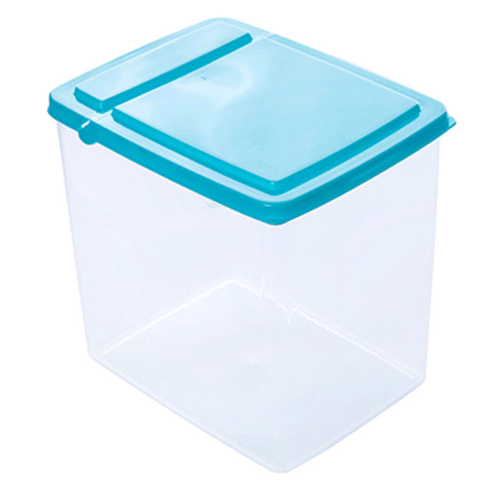 1 piece Large Plastic Food Storage Box with Folding Cover Sealed Lid