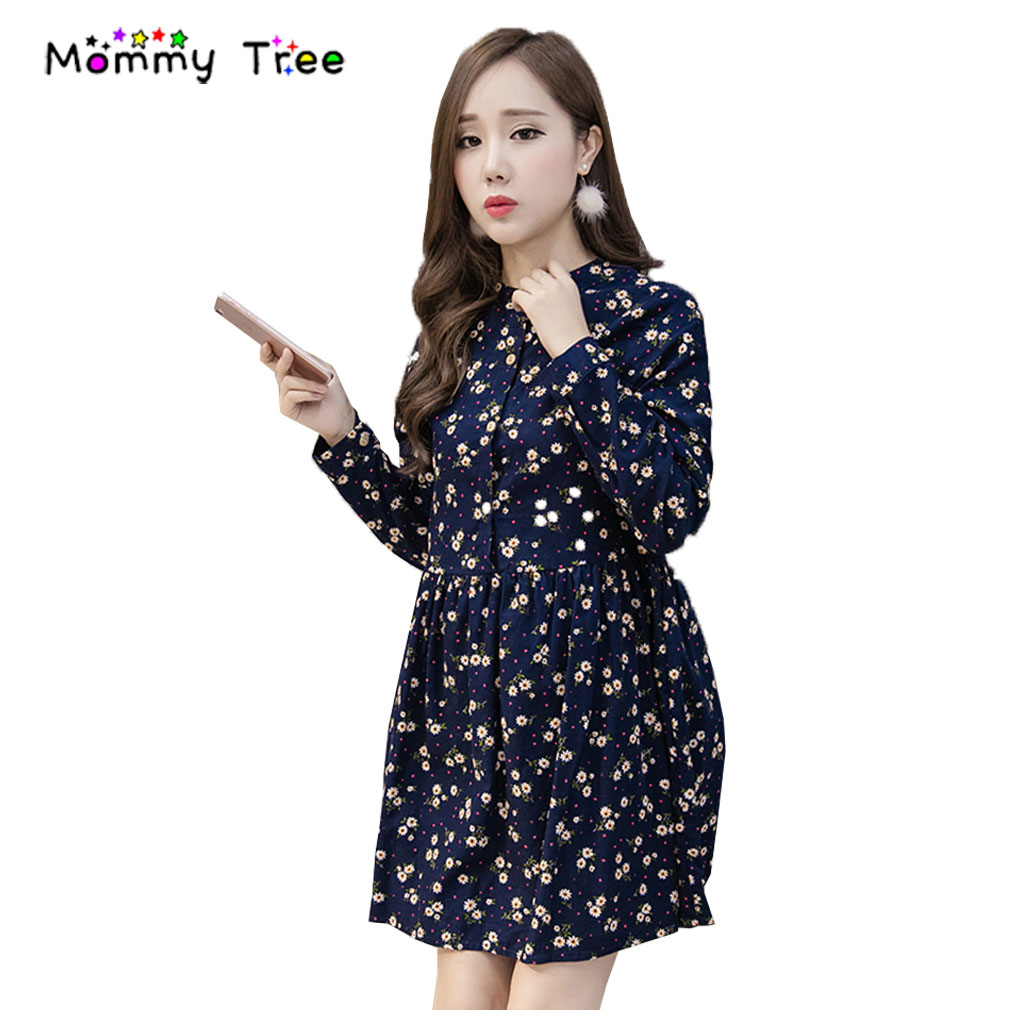 Compare prices on maternity dress cute online shoppingbuy low m xxl corduroy floral print pregnancy clothes spring mini maternity dresses cute pregnant clothing for ombrellifo Gallery