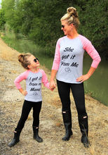and Daughter Long Sleeve Cute Letter