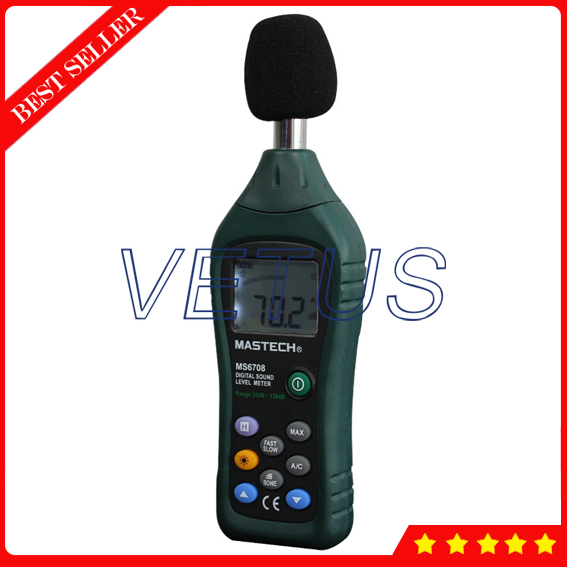 MS6708 30dB~130dB Handheld Digital Sound Level Meter Price цены онлайн