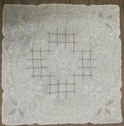 1 Teile/los Neuheit frauen Taschentücher 11,5 'x11. 5 Weiß Leinen handgemachte Gestickte Vintage Floral Taschentücher Einstecktuch für Braut Geschenke