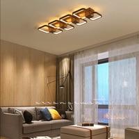 NEO Gleam Rectangle Modern led Chandelier For Corridor Living Room Bedroom Coffee Color Ceiling Chandelier 110V 220V Fixtures