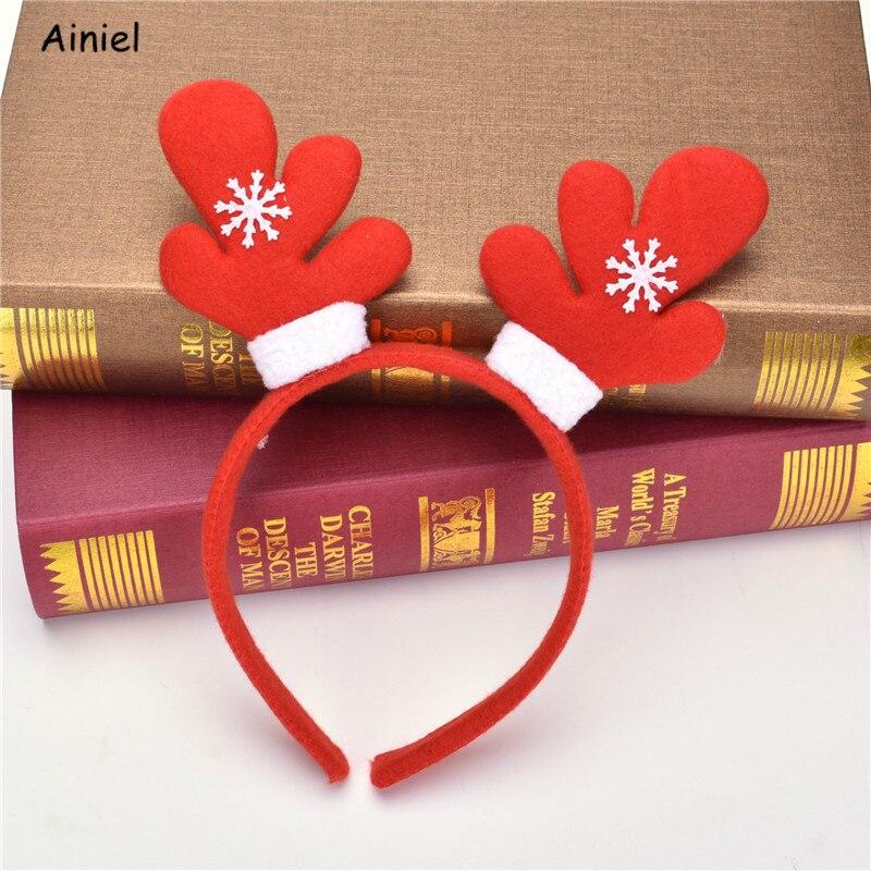 Christmas Hairbands Headwear For Children Headwear Santa Claus Snowman Antlers Red Headbands Kids Fashion Hair belt Accessories