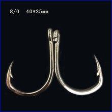 CN06 8/0 50pcs Stainless steel Assist hook Sea Fishing Hook Jigging Hook Metal jig hooks