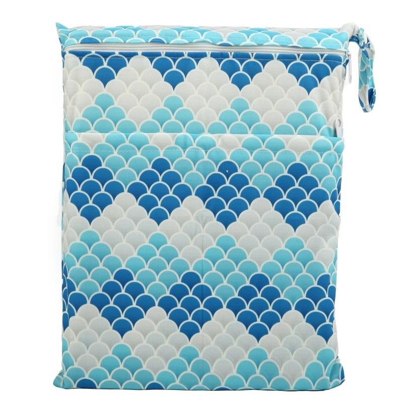 [Sigzagor] 1 Влажная сухая сумка с двумя молниями для детских подгузников, водонепроницаемая сумка для подгузников, розничная и, 36 см x 29 см, на выбор 1000 - Цвет: WH37