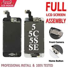 아이폰 5/5c/5 s/se lcd 디스플레이 터치 디지타이저 전체 화면 교체 pantalla + 홈 버튼에 대 한 전체 집합 어셈블리 lcd 화면