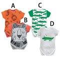 Verão babador algodão menino Bodysuit dos desenhos animados macacão de bebê Animal do corpo do bebê desgaste do bebê recém-nascido