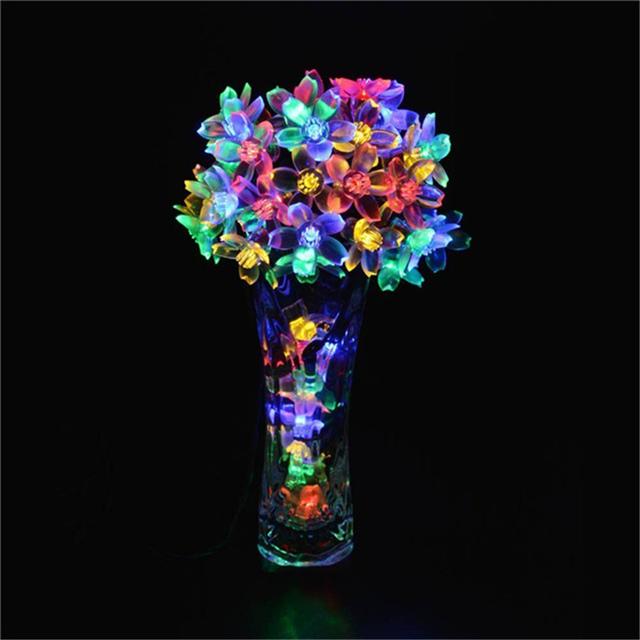 New lederTEK Solar Fairy String Lights 21ft 50 LED Multi-color Blossom Decorative 50 LED Multi-color In stock and fast delivery