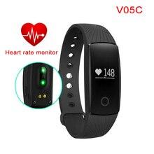 V05C умный Браслет монитор сердечного ритма Браслет активности фитнес-трекер сигнализации PK mi Группа 2 группы для Xiaomi iPhone IOS Android