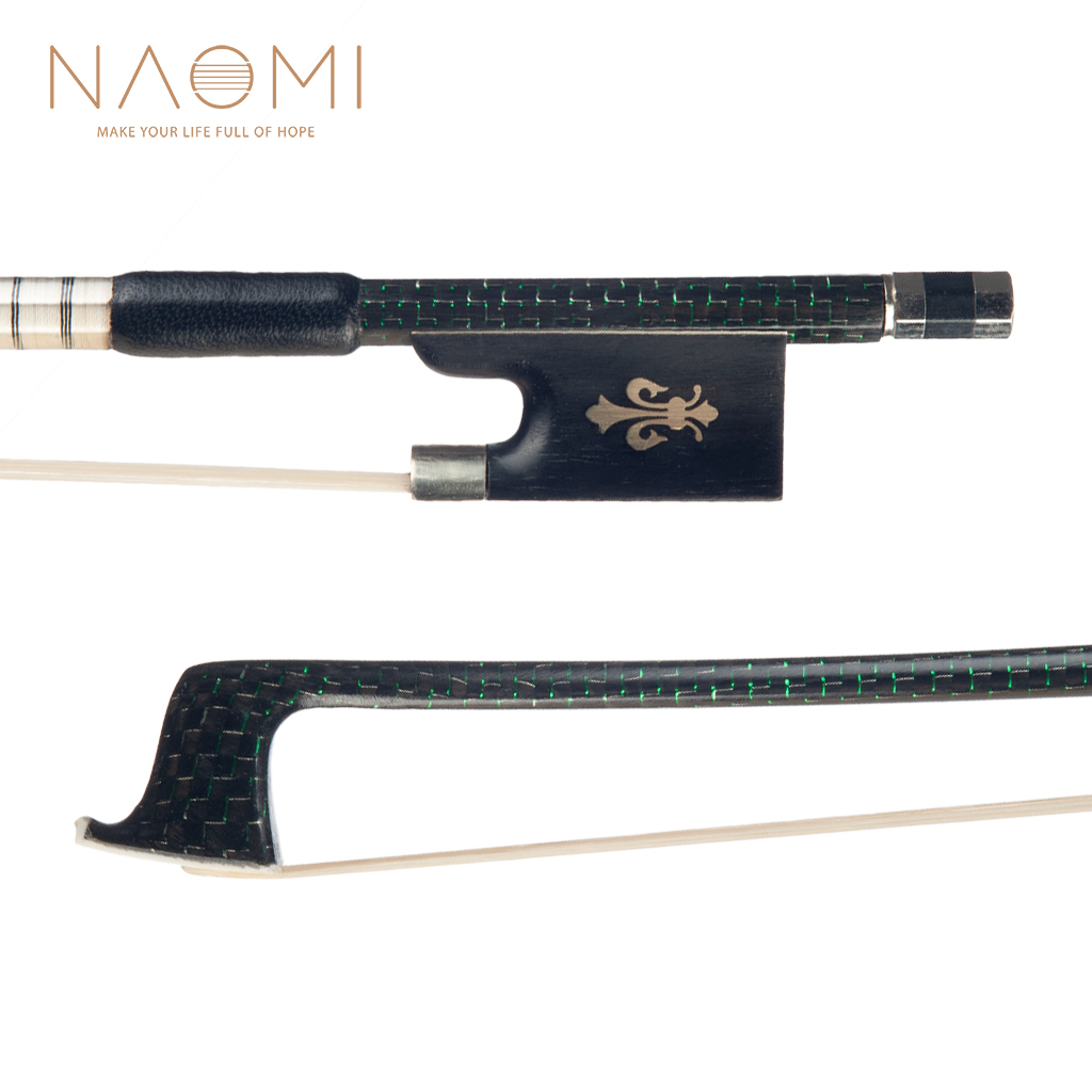 NAOMI 4/4 Carbon Fiber Violin Bow 4/4 Green Wire Twine Copper Mounted Ebony Frog Mongolia Horse Hair NewNAOMI 4/4 Carbon Fiber Violin Bow 4/4 Green Wire Twine Copper Mounted Ebony Frog Mongolia Horse Hair New