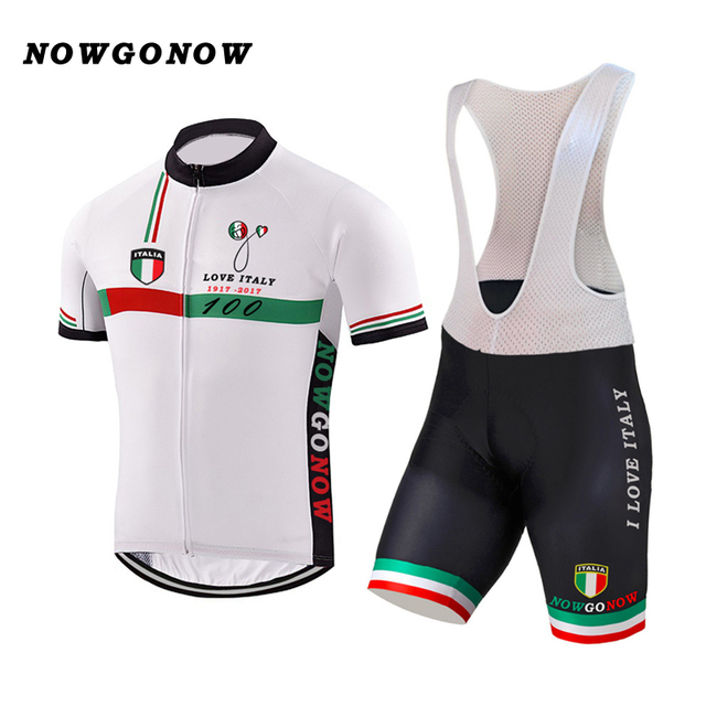 62c46d260 NEW 2017 ITALY ITALIA Classical Bicycle Team Bike Cycling Sets   Wear Jersey    Bib Shorts Breathable Gel Pad JIASHUO 100 YEARS