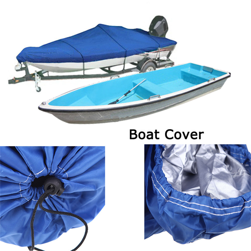 2018 New Hot Sell Boat Cover 210D Oxford V-Hull Speedboat Cover 17-19ft High Quality Prevent UV Sunproof Waterproof Blue