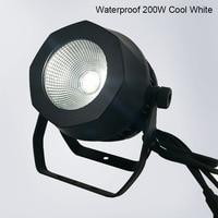 10pcs Waterproof LED Par COB 200W Warm White DMX512 Stage Effect Lighting For Outdoor Swimming Pool DJ Disco Party Nightclub Bar