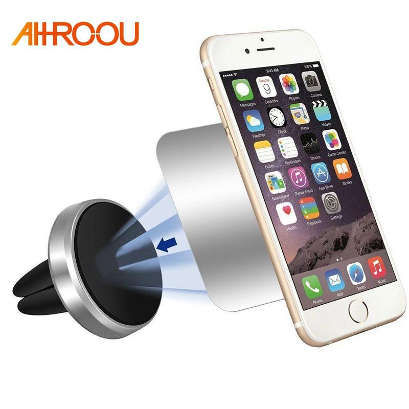 Soporte Universal Mini para teléfono de coche de 360 grados giratorio magnético de ventilación de aire soporte para coche magnetismo soporte para teléfono móvil