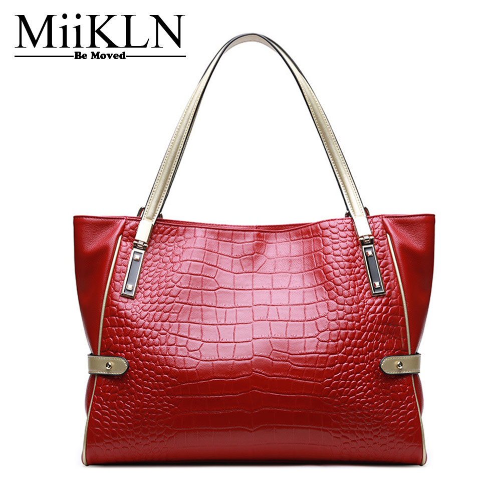 MiiKLN Genuine Leather Ladies Bags Soft Comfortable Ladies Handbags For Women Bag Big Capacity Casual Tote Shoulder Hand Bag qiaobao 100% sheepskin bag leather handbags knit big ladies hand bags girls soft genuine leather shoulder bag lady totes