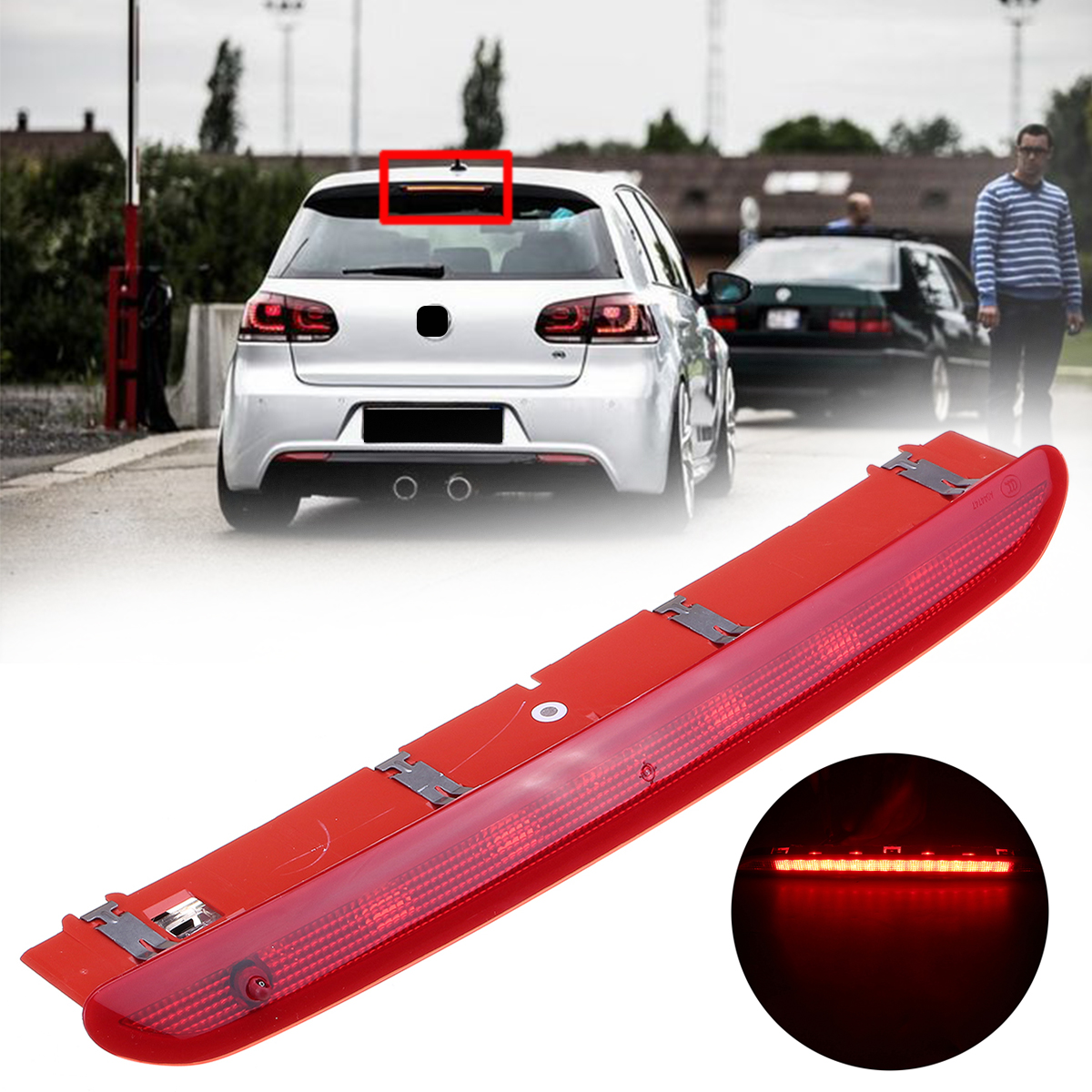 12V Car LED High Level Rear Third Brake Lights Tail Stop Lamp Wite+Red for VW Golf MK 5 6 Gti Rabbit for Passat B6 B7 for Tiguan пищевой контейнер tupperware