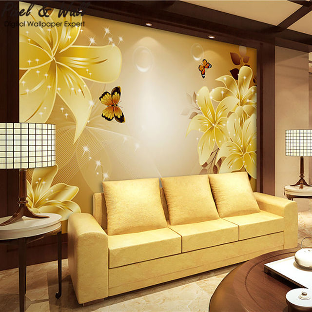 The butterfly flutters support mural tv home decoration accessories ...