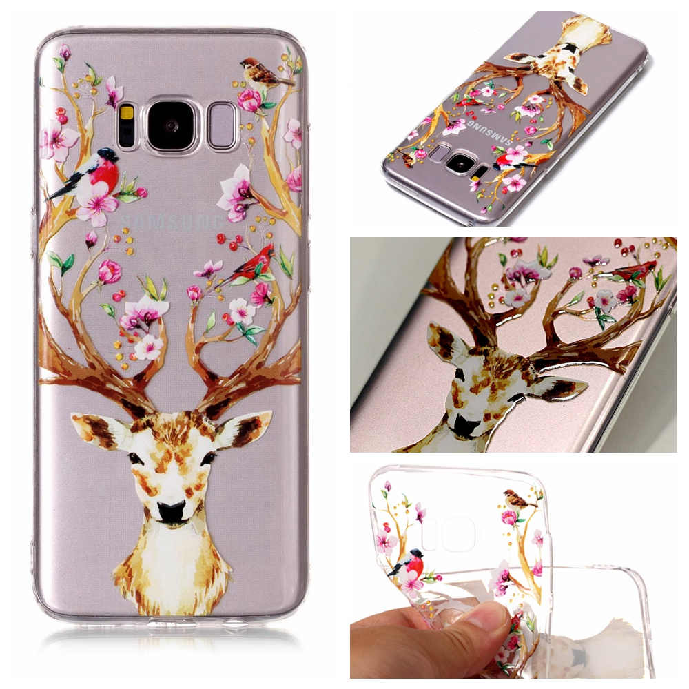 For Samsung Galaxy S7 Edge S8 Plus Note 8 A3 A5 J3 J5 J7 2017 case Transparent Soft TPU For Sumsung S7 S8 Colorful Phone Case ...