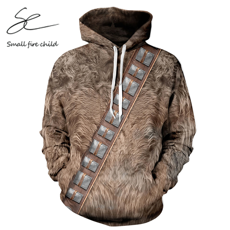 New fashion Men/Women Autumn Hooded Tops Print Animals Fur 3d Sweatshirt With Pocket Cou ...