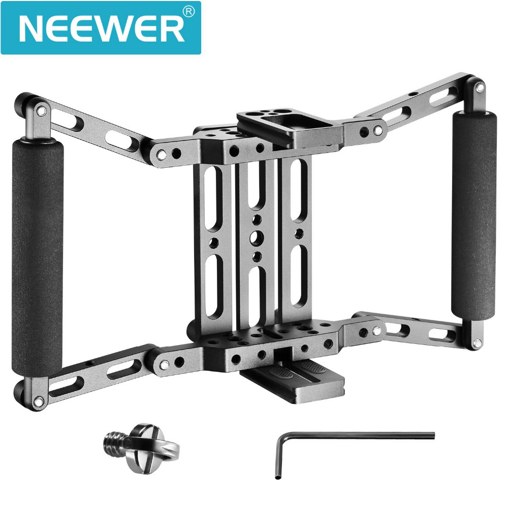 Neewer Director's Monitor Cage for 4/5/7 inch Camera Field Monitor As Feelworld FW759/759P/760/74K Aputure Lilliput magic new aputure vs 5 7 inch 1920 1200 hd sdi hdmi pro camera field monitor with rgb waveform vectorscope histogram zebra false color