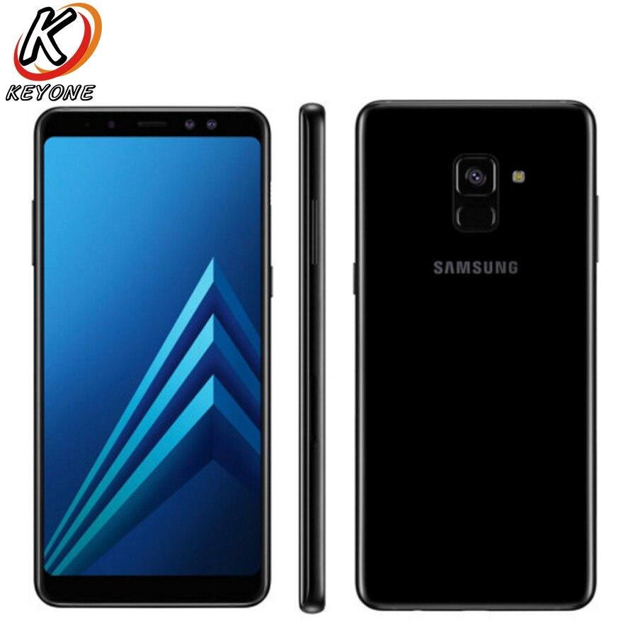 Nova Galáxia Originais Samsung A8 Mais D/S A730FD Mobile Phone 6.0 6 GB de RAM 64 GB ROM Octa Núcleo 3500 mAh Duplo Frontal Câmera de Celular
