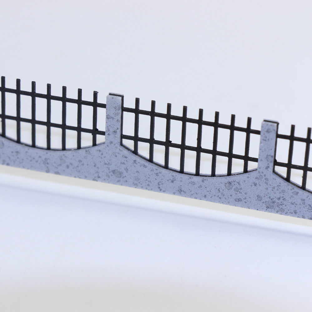 3PCS 34.4cm Model Train Railway Building Fence Railing  1:75 OO Scale New model building kit GY47075 railway modeling